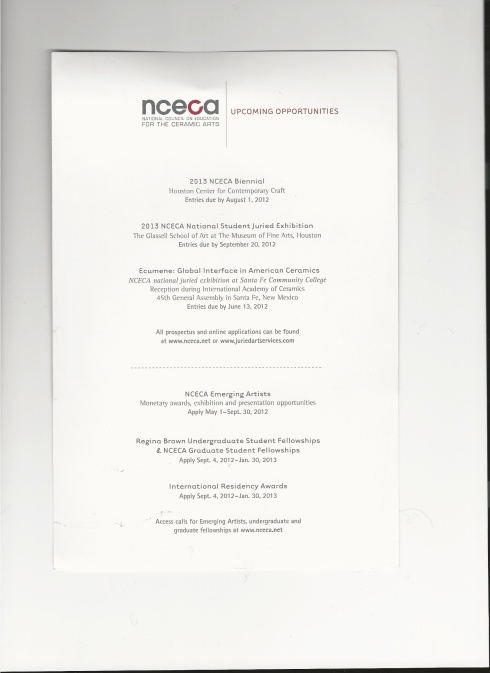 NCECA 2012 SCANS 2-3