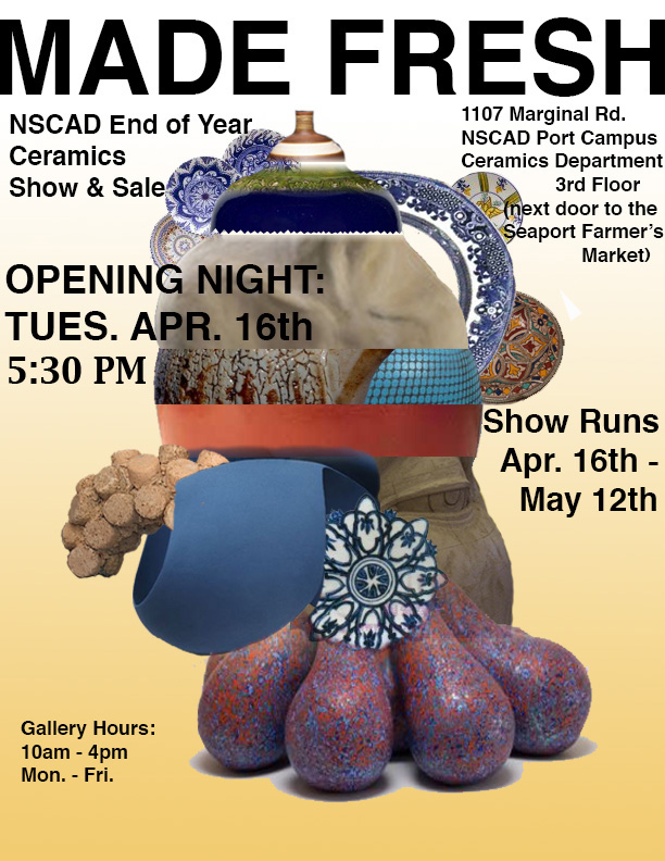 Made Fresh, NSCAD Ceramic Show and Sale