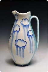 Julia Galloway, Large-Pitcher-with-Clouds-side-B