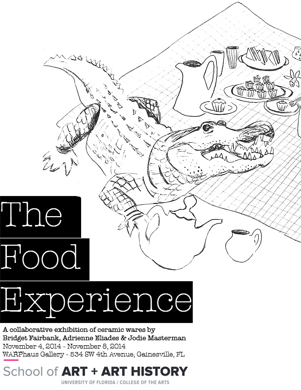 The Food Experience, WARPhaus poster