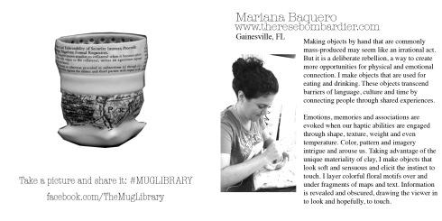16, Mariana Baquero, Mug Library Insert