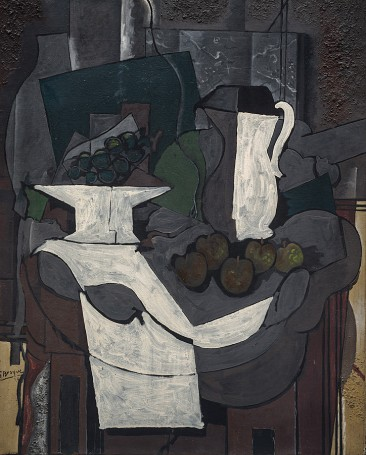 Braque, The Bowl of Grapes (Le compotier de raisin)