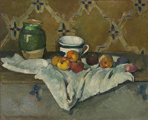 Cezanne, Still Life with Jar, Cup, and Apples