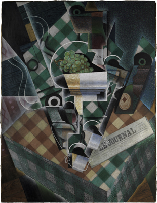 Gris-Still-Life-Checked-Tablecloth
