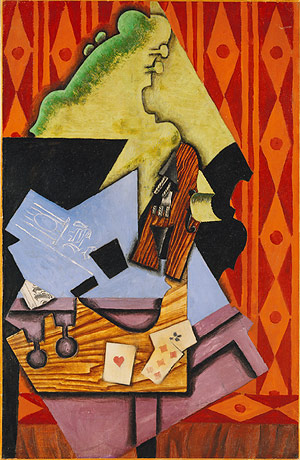 Gris, Violin and Playing Cards, 1913